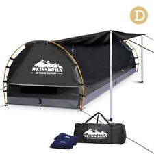 Weisshorn Double Camping Swags Canvas Free Standing Dome Tent Bag Dark Grey