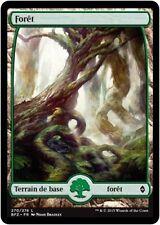 MTG Magic BFZ FOIL - Forest/Forêt, #270, Full Art, French/VF