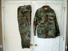 Vtg 1982 US Army Military Woodland Combat Coat Trousers Camouflage Pattern BDU
