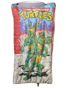 Vintage 1988 Teenage Mutant Ninja Turtles Sleeping Bag TMNT -  Mirage Studios