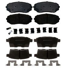 Wagner QuickStop ZX1333 Semi-Met Disc Pad Set Includes Pad Installation Hardware Front