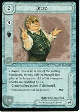 MIDDLE EARTH BLACK BORDER PREMIER RARE CARD BILBO, grade 8/10