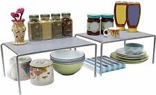 Kitchen Cabinet Expandable Rack Counter Storage Shelf Organizer Sturdy Steel NEW