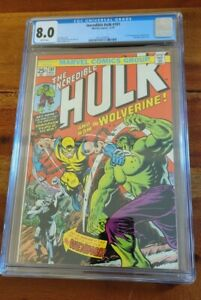 Hulk 181 1974 CGC Grade 8.0 VF 1st Full appearance Wolverine White Pages Grail!