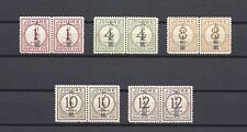 "MALAYA/JOHORE 1942 SG JD6/10 ""Jap Occ"" MINT PAIRS Cat £90"