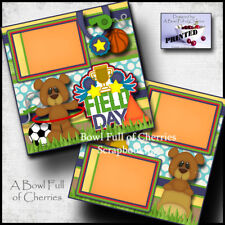 FIELD DAY ~ school 2 premade scrapbook pages layout printed paper piecing Cherry