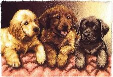 "Caron - LAB PUPPIES - Latch Hook Kit  24"" x 34"""