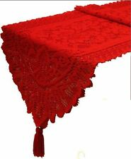 Red Table Lace Runner Christmas Decoration Tablecloth Festive Wedding Party Gift
