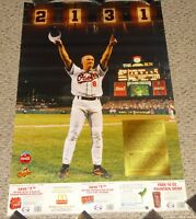 CAL RIPKEN JR 2,131 Games Poster Sept 6 1995 w/ Coupons Baltimore Orioles