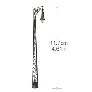 3pcs Model Railway Layout HO Scale Lights 1:87 Platform Mast Lamp Warm White