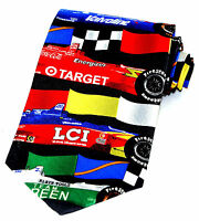 Team Racing Men's Silk Neck Tie Car Racing Driver CART Novelty Sports Necktie