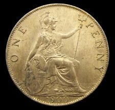 More details for victoria 1900 bronze veiled head penny - a/unc