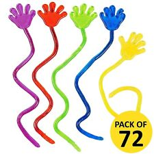 Kids Party Supplies Favours Mini Glitter Sticky Slap Squishy Hands BULK Pack 72