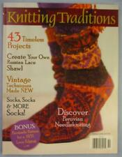 Knitting Traditions Magazine Winter 2010 LOTS of Sock Patterns Russian Lace Book