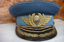 RARE ROMANIAN MILITARY AIR FORCE RSR OFFICER Visor Hat Peaked Cap