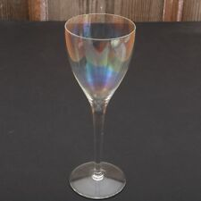 Clear Iridescent Glass Wine Goblet Water Cup