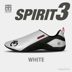 MOOTO Spirit 3 Shoes White Black Lumi Latest Martial Arts Footwear Spirit3 (S3)