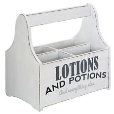 Spa Storage Caddy Distressed White 4 Sections Lotion And Potion Everything Else