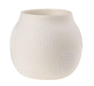 Perlenvase Design 5A weiß Räder Design