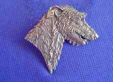 Scottish Deerhound Irish Wolfhound pewter pin #16F dog Jewelry b Cindy A. Conter