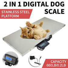 660LB Digital Livestock Vet scale Hog Pet Dog Sheep Goat Scale power Pet Dog