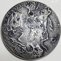 NIUE 2018 1 Oz Silver $1 VESTA Solar System METEORITE NWA 4664 Coin.
