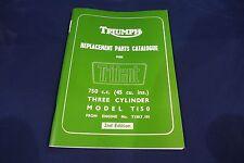TRIUMPH TRIDENT T150 GENUINE ILLUSTRATED PARTS LIST 1969-70