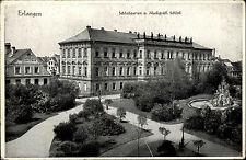 Erlangen Bayern s/w Postkarte 1933 gelaufen Schloßgarten markgräfliches Schloß