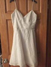 ABS White Embroidered Flowers Dress Size 10 -New With Tags $205