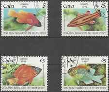 Timbres Poissons 3801/4 o lot 4679