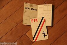WW2 Free French Infantry ID Card