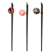 3pcs Vintage Sakura Hair Stick Pin Women Hairpin Jewelry Kimono Hair Dress