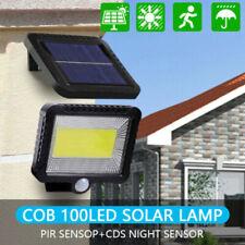 100 COB Lámpara Solar con Sensor de Movimiento Exterior Proyectores Focos Jardín