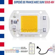 LED COB HIGH POWER 30W 2400 LUMENS BLANC CHAUD ALIM DIRECT 220V DRIVER INTEGRE