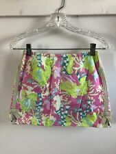 LILLY PULITZER Undersea Print Golf Skirt Skort Shorts Youth 12 preppy Floral