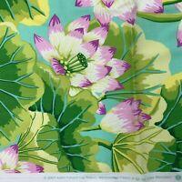 Kaffe Fassett for Rowan Westminster Fabric Lake Blossoms GP83 Green Floral 1yd
