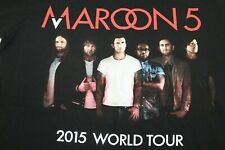 "Maroon 5 medium (19"") black 2015 world tour t shirt"