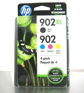 HP 902XL/902 Ink Cartridges -  Genuine HP Color 4-Pack Combo - Exp. Aug 2021
