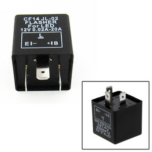 3-pin Electronic 12V Flasher Relay Fix for Turn Signal Hyper Flashing Blinker