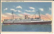 Az-130 - S.S. Yarmouth on Eastern Steamship Lines, Inc, 1930s-50s Linen Postcard