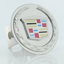 Cadillac New Logo Chrome Trailer Hitch Plug Cover