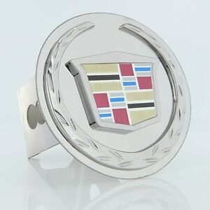 Cadillac New Logo Trailer Hitch Cover Plug (Chrome)