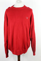 GANT Red Pullover Crew Neck Jumper Size 2XL