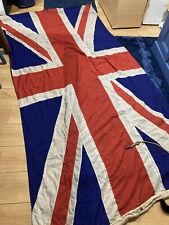 More details for antique large stitched british union jack flag 9ft long