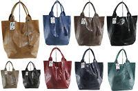 borsa bag leather da spalla con manici vera pelle made in italy stampata 5190