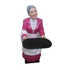 Waiter Statue Figure Sculpture Grandmother Restaurant Catering Grandma New