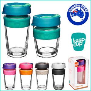 Glass Coffee Mug 12/16oz KeepCup LongPlay Reusable Drink Keep Cup Double Wall AU