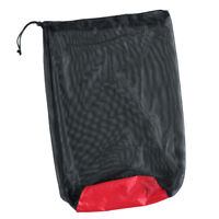 Ultralight Drawstring Mesh Stuff Sack Storage Bag for Tavel Camping Black