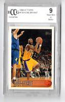 KOBE BRYANT NBA 1996-97 TOPPS ROOKIE CARD GRADED 9.0 MINT (L.A.LAKERS)