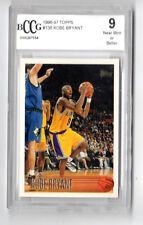 Kobe Bryant NBA 1996-97 Topps Rookie Tarjeta Graduada 9.0 como nuevo (L.A. Lakers)
